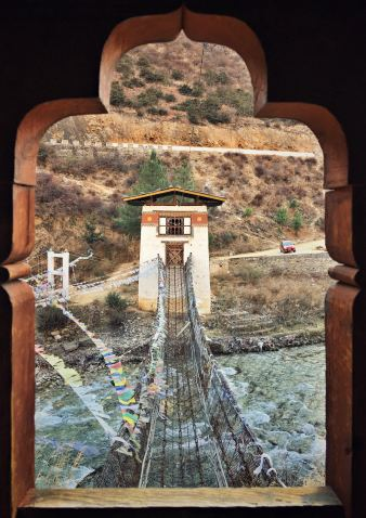 Thimphu - Old Iron Chain Bridge