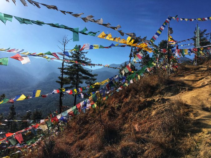 Thimphu - Prayer Flags in the wind